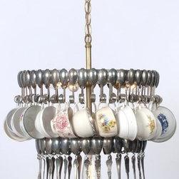 EuroLux Home - Teacup & Silver Spoon Chandelier Artisan - Product Details