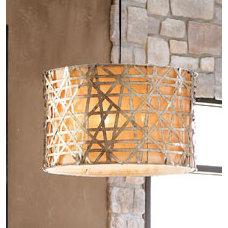 Contemporary Chandeliers Alita Basketweave Light Fixture