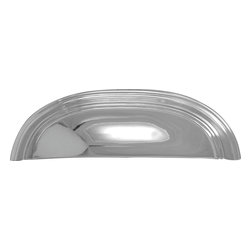 Hickory Hardware - Hickory Hardware 3 In. and 96mm American Diner Chrome Cup Cabinet Pull - Often characterized with clean, sleek lines.  Marked with solid colors, predominantly muted neutrals or bold bunches of color.  An emphasis on basic shapes and forms.