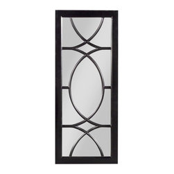 EuroLux Home - New Mirror Black Georgian Mirror Rectangle - Product Details