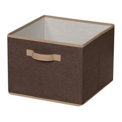 Household Essentials - Storage Bin, Coffee Linen - Because your home is more than the sum of its parts, your storage options should be, too. You have more than a place to put things; you have a touch of modern refinement to arrange your world.