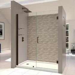 """DreamLine - DreamLine Shower Door with 30"""" Stationary Panel and Shelves - Shower Door with 30"""" Stationary Panel and Shelves (Walk-in width 54"""" - 55"""")"""