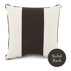 """Oilo - 18"""" x 18"""" Band Pillow, Brown - One wide stripe of color takes center stage on this classic throw pillow. With coordinating piping and a solid backing, this cozy cushion can be easily mixed and matched with countless patterns and colors for your couch or bed. You can't go wrong with this classic design."""