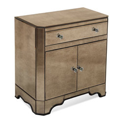 Bassett Mirror - 2 Door Chest with Drawer - Antique Mirror. 1 Drawer. Measures: 30 in. W x 17 in. D x 29 in. H.