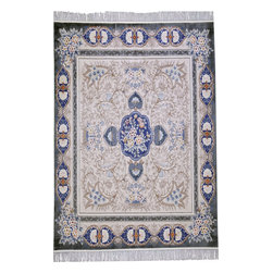 "Individual - An 8' x 8' Decorative Chinese Silk Area Rug - This is 100% handmade silk Chinese rug. If you are looking for a beautiful silk rug and did not want to pay thousands of dollars. here you can steal one at bargain price due to our close our sale. This beauty has phenomenal pastel color combination with sculpture floral pattern with a center medallion. Pleas,e refer to the picture and close ups to see how colors are harmonious, I assure you that when you see this rug in real life, you will be more impressed with it because pictures do not justify for its beauty. It measures 7'-10' x 7'-10"", square size, which is another advantage, because square size always adds up to the value, because is in odd size category."