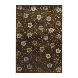 Safavieh - Martha Stewart Rectangular Rug in Mocha (5 ft. 9 in. x 3 ft. 9 in.) - Choose Size: 5 ft. 9 in. x 3 ft. 9 in. Country style. Floral design. Hand tufted weave. Made from wool. Made in India. Pile height: 0. 63 in. Artistically blending the weaving cultures of Japan and Italy, the overall flower motif of Garland was adapted from a lavishly embroidered vintage kimono, and then richly embellished with a vermicelli pattern found in Italian silks since the 18th century. This versatile design is created with shimmering viscose yarns for pattern definition against a luxuriously thick matte textured background of fine New Zealand wool. Care Instructions: Vacuum regularly. Brushless attachment is recommended. Avoid direct and continuous exposure to sunlight. Do not pull loose ends clip them with scissors to remove. Remove spills immediately; blot with clean cloth by pressing firmly around the spill to absorb as much as possible. For hard-to-remove stains professional rug cleaning is recommended.