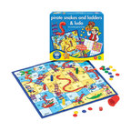 The Original Toy Company - The Original Toy Company Kids Children Play Pirate Snakes and Ladders And Ludo - Two traditional family games in one. Old favorites are given and exciting pirate twist on this double-sided playing board. Ages 5-9 years. 2-4 players. Made in England.