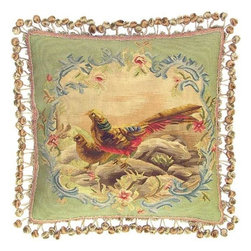 "EuroLux Home - New Aubusson Throw Pillow 20""x20"" Two - Product Details"