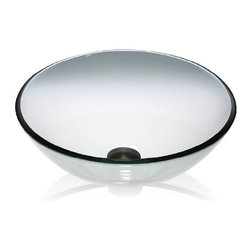Lenova - Lenova Gv01 Above Counter Round Vessel Sink Clear Glass - The Lenova GV-01 Clear Glass Vessel Round Sink has overall sink dimensions of 16-Inch by 16-Inch and bowl dimensions of 15-Inch by 15-Inch by 6-Inch. The name Lenova is born from a love of space and stars where the universe is truly unlimited. In this boundless spirit we present a line of new and timeless designs for kitchen and bath sinks. Glass vessels are Beauty in the Bath. Power room, Family bath or Master suite, bathrooms have become an important room in the home. It only seems right to put a piece of beauty in the bath to enjoy. Tempered for strength, designed for your pleasure. Bath series offer the best range of styles around. The Clear Glass Vessel Group expresses a celebration of water in the form of glass. Made of Tempered glass, these vessels undergo an 11-step process and go through many gifted hands to create these beautiful works of art. Clear and or frosted, smooth or textured, the Glass Vessel Collection has the perfect appointment for your design. Lenova Sinkware extends a warranty for all Lenova Sinkware products against material and workmanship defects to the original purchaser for one year from date of installation or date of use.