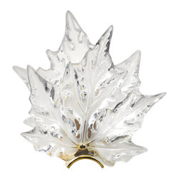 Lalique - Lalique Champs Elysees Wall Sconce Gilded - Lalique Champs Elysees Wall Sconce Gilded 1001199  -  Size: 6.1 Inches Long x 12.2 Inches Wide x 11.81 Inches Tall  -  Genuine Lalique Crystal  -  Fully Authorized U.S. Lalique Crystal Dealer  -  Created by the Lost Wax Technique  -  No Two Lalique Pieces Are Exactly the Same  -  Brand New in the Original Lalique Box  -  Every Lalique Piece is Signed by Hand, a Sign of its Authenticity and Quality  -  Created in Wingen on Moder-France  -  Lalique Crystal UPC Number: 090592100110