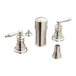 Moen - Moen S415NL Bidet Faucet Nickel - Moen Showhouse S415NL Waterhill two handle Bidet Faucet - Nickel