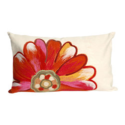"""Trans-Ocean - Daisy Orange Pillow - 12""""X20"""" - The highly detailed painterly effect is achieved by Liora Mannes patented Lamontage process which combines hand crafted art with cutting edge technology.These pillows are made with 100% polyester microfiber for an extra soft hand, and a 100% Polyester Insert.Liora Manne's pillows are suitable for Indoors or Outdoors, are antimicrobial, have a removable cover with a zipper closure for easy-care, and are handwashable."""