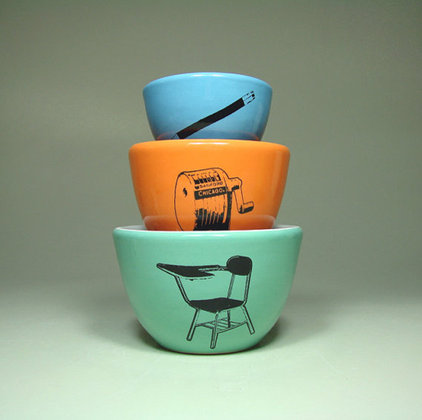 Modern Home Decor The Urban Set, School Blue, by CircaCeramics