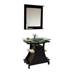 Fresca - Fresca Cortese Espresso Modern Bathroom Vanity w/ Mirror - Fresca Cortese Espresso Modern Bathroom Vanity w/ Mirror