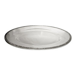 """Alan Lee Collection - Princess Collection 14"""" Glass Charger - 14"""" Glass Charger with hand applied cut crystals around the outside edge. A beautiful way to make any table setting look Spectacular."""