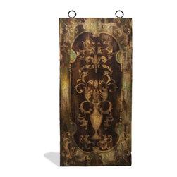 Koenig Collection - Old World Mediterranean Wall Art Panels, Distressted Fresco Brown - Old World Mediterranean Wall Art Panels