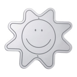 Whitneybrothers - Whitney Brothers Home Indoor Kids Room Emotion Recognize Happy Face Mirror - Etched into this safe acrylic mirror is a very happy face. Wall mounted or held by hand. GreenGuard Certified. Made in USA. Lifetime Warranty.