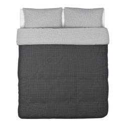 Maria Vinka - IKEA 365+ RISP Duvet cover and pillowcase(s) - Duvet cover and pillowcase(s), black, white