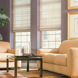 Comfortex - Comfortex Envision Roman Shades: Damascus - Envision Damascus Roman shades provide that sophisticated designer fabric look at very comfortable price point.  Damascus fabric has the look and feel of a tightly weaved designer fabric.