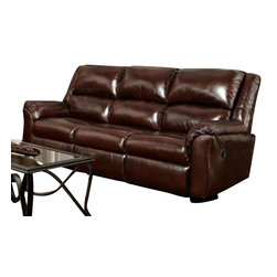 Chelsea Home Furniture - Chelsea Home Berks Reclining Sofa in Mesa Chestnut - Berks Reclining Sofa in Mesa Chestnut belongs to the Chelsea Home Furniture collection .