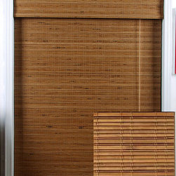 Arlo Blinds - Tuscan Bamboo Roman Shade (49 in. x 98 in.) - Pull down this pretty bamboo Roman shade to get that filtered-light effect youve been wanting to experience in your bedroom or living room. The warm coloring of this easy-to-clean shade works well with both contemporary and traditional decor.