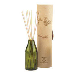Grapefruit & Fennel Diffuser - The soothing smell of grapefruit and fennel will delight your senses, reminding you of a simpler time. This enchanting fragrance diffuser is hand poured into an attractive bottle that will add a little rustic charm to any room.