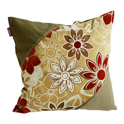 Blancho Bedding - [Floral Heart] Linen Stylish Patch Work Pillow Floor Cushion 19.7 by 19.7 inches - Aesthetics and Functionality Combined. Hug and wrap your arms around this stylish decorative pillow measuring 19.7 by 19.7 inches, offering a sense of warmth and comfort to home buddies and outdoors people alike. Find a friend in its team of skilled and creative designers as they seek to use materials only of the highest quality. This art pillow by Onitiva features contemporary design, modern elegance and fine construction. The pillow is made to have invisible zippers, linen shells and fill-down alternative. The rich look and feel, extraordinary textures and vivid colors of this comfy pillow transforms an ordinary, dull room into an exciting and luxurious place for rest and recreation. Suitable for your living room, bedroom, office and patio. It will surely add a touch of life, variety and magic to any rooms in your home. The pillow has a hidden side zipper to remove the center fill for easy washing of the cover if needed.
