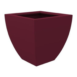 "Decorpro - Decorpro Monaco Planter, Maroon - Decorpro D12001-5R-15 Monaco Planter - Maroon. The Monaco Planter evolved from a variation on the standard square pots. Although designed as a large outdoor planter, these elegant planters also look great indoors. With clean curved lines these modern planters add an impressive statement as commercial planters or in private residences. Made from a non-toxic food grade polymer based polymer based fiberglass resin, these contemporary planters will never rot, mildew, split, cup or warp. This material offers an unparalleled combination of uniformity, durability and beauty. These modern outdoor planters are available in our standard colours or you have the option of selecting a custom colour. Decorpro planters meet all your performance and durability requirements. Whether exposed to salt water the rough and tumble of everyday wear and tear of home or commercial use, our gel coats maintain a beautiful finish no matter how tough the conditions get. Specifications: Product Dimensions (IN): L 30.25"" X W 30.25"" X H 30"". Product Weight (LB): 40. Product Dimensions (CM): L 76.84 X W 76.84 X H 76.2. Product Weight (KG): 18.14. Colour: Maroon."