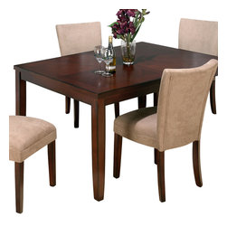 Jofran - Jofran 888-72 Carslbad Cherry Butterfly Leaf Parson Dining Table - Combining traditional details with modern designs, Jofran has a collection to compliment any home decor. This Carlsbad Rectangle Butterfly Leaf Dining Table belongs to 888 Series - Carlsbad Cherry Collection by Jofran Inc. The classic formulas of color combinations are not valid in Jofran Furniture territory: here is ruled by laws solely of your own preferences and fantasies. Huge selection of colors in combination with a wide choice of shapes and sizes allow you to find among this variety precisely the furniture you've always wanted to see in your home. Jofran Furniture offers high quality, casual furniture pieces that are constructed from premium Asian Hardwoods, and finished with beautiful veneers. Durable materials and quality assembly will help your furniture to serve for many years and will not let you be disappointed in your choice.