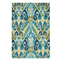 Couristan - Covington Delfina Azure and Lemon Rectangular: 5 Ft. 6 In. x 8 Ft. Rug - - Designed with today?s busy households in mind, the Covington Collection showcases versatile floor fashions with impressive performance features that add to their everyday appeal.   - Because they are made of the finest 100% fiber-enhanced Courtron? polypropylene, Covington area rugs are water resistant and can be used in a multitude of spaces, including covered outdoor patios, porches, mudrooms, kitchens, entryways and much, much more.   - Treated to prevent the growth of mold and mildew, these multi-purpose area rugs are exceptionally easy to clean and are even considered pet-friendly.   - An ideal d�cor choice for families with young children, or those who frequently entertain, they will retain their rich splendor and stand the test of time despite wear and tear of heavy foot traffic, humidity conditions and various other elements.   - Featuring a unique hand-hooked construction, these beautifully detailed area rugs also have the distinctive aesthetic of an artisan-crafted product.   - A broad range of motifs, from nature-inspired florals to contemporary geometric shapes, provide the ultimate decorating flexibility.   - Provides Durable Performance in Frequently Used Spaces Inside & Outside the Home.   - These Rugs Pass All U.S. Flammability Standards.     - Approximate Pile Height: 0.25.   - Made in China. Couristan - 22630702056080T