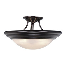 Vaxcel Lighting - Vaxcel Lighting Tertial Transitional Semi Flush Mount Ceiling Light X-BBO02723CC - If simplicity is key in your design then this Tertial transitional semi-flush mount ceiling light by Vaxcel Lighting is the right choice for you. Light up your home with this simple lighting fixture, which easily complements most decor styles in any room in your home from you living room, dining room and hallway.