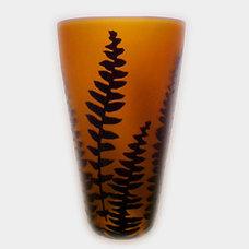 Modern Vases Amber/Black Fern Vase