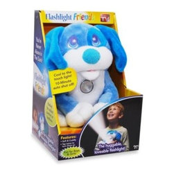 As Seen On Tv - Flashlight Friends Blue Puppy - Make nighttime fun for your kids with Flashlight Friends, the super soft and cuddly stuffed animal with a built-in flashlight. These plush, huggable flashlights are perfect for sleepovers, story time, fear of the dark, and more.