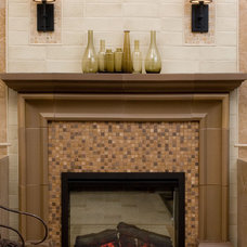 Contemporary Indoor Fireplaces by Pratt and Larson Ceramics