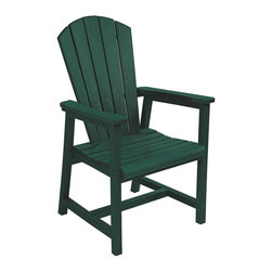 C.R. Plastic Products - C.R. Plastics Addy Dining Arm Chair In Green - Can be used for residential or commercial use, Ergonomically designed, Heavy 78 gauge plastic lumber 12 used by competitors, All stainless steel hardware, No painting, No slivers, No Rot, Completely waterproof