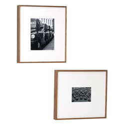 Walnut Box Frames - Stylish and sleek, these walnut frames would be at home in a contemporary or traditional space.