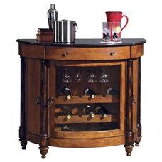 Contemporary Indoor Pub And Bistro Tables Howard Miller Merlot Valley 18 - Bottle Home Wine Bar Multicolor - 695016