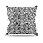 "Kess InHouse - Mydeas ""Fancy Damask Black & White"" Gray Throw Pillow (18"" x 18"") - Rest among the art you love. Transform your hang out room into a hip gallery, that's also comfortable. With this pillow you can create an environment that reflects your unique style. It's amazing what a throw pillow can do to complete a room. (Kess InHouse is not responsible for pillow fighting that may occur as the result of creative stimulation)."