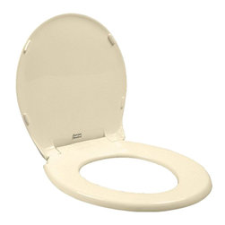American Standard - American Standard 5322.011.021 Rise and Shine Round Front Toilet Seat, Bone - This American Standard 5322.011.021 Rise and Shine Round Front Toilet Seat and cover is part of the Additional Accessories collection, and comes in a beautiful Bone finish. This solid plastic seat and cover features a Rise and Shine cleaning feature that allows for a quick snap-out removal and reattachment without tools.