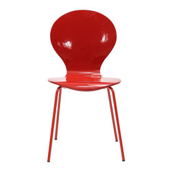 LexMod - Insect Dining Side Chair in Red - For true flights of fancy, no house is complete without an Insect Chair. Good for dinning room or living room, this creatively styled piece is sure to draw attention and admiration.