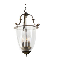 None - Avery 3-light Glass Chandelier - Give your home a new look with this attractive chandelier. This elegant lighting fixture is perfect for any home decor.