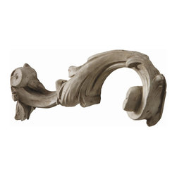 """Arteriors - Arteriors Home - Laon Concrete Fragment Sculpture Wall Plaque - DR5001 - This cast concrete scroll fragment is made for the wall. Looks great when hung with DR5002. Keyhole hanger. Features: Laon. Collection: Sculpture Wall Plaque Concrete Fragment Sculpture Distressed Plaster Some Assembly Required. Dimensions: W 5"""" x D 2 1/2"""" x H 16"""""""