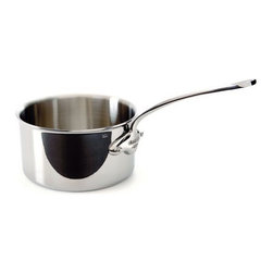 Mauviel - Mauviel M'cook Stainless Steel Saucepan, Cast Stainless Steel Handle, 3.6 qt. - 5 ply Construction - High performance cookware, works on all cooking surfaces, including induction.