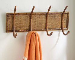 Rattan-Bamboo Hanging Rack - I like how this hanging rack showcases rattan and bamboo in a very classic, simple design.