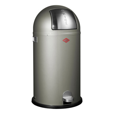 Wesco - Wesco Kickboy Waste Can, Silver - Now you're talkin' trash! The flop top opens with a flick of the foot for the easiest, most hygienic disposal ever. Plus, the classic can, made in Germany of powder-coated sheet steel, simply looks cool.