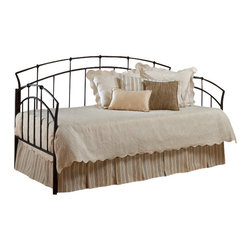 Hillsdale Furniture - Hillsdale Vancouver Daybed - Popular contemporary design themes makes this daybed a best seller. Tapered framework and strategically placed doughnut style castings are highlighted by twisted spindles. Features a textured antique brown powder coat finish.