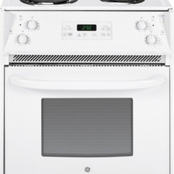 """GE - JM250DFWW 27"""" 3.0 cu. ft. Capacity Drop-In Electric Range With Self-Clean Oven - The JM250DF comes with a total of 30 cu ft capacity in the oven The oven comes with a 4 Pass Bake Element and a 4 Pass broil element ensuring the oven has everything you need for every meal"""