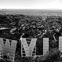"Iconic Hollywood , Limited Edition, Photograph - The iconic view of los angeles from the back of the hollywood sign. bring your artwork to life with the stylish lines and added depth of a metal print.  your image gets printed directly onto a sheet of 1/16"" thick aluminum.the aluminum sheet is offset from the wall by a 3/4"" thick wooden frame which is attached to the back.  the wooden frame includes a hanging wire for easy mounting on your wall. metal prints are extremely durable.  they're lightweight. they won't bend, and they're water resistant.the high gloss of the aluminum sheet complements the rich colors of any image to produce stunning results."