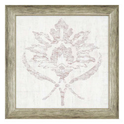 Paragon - Weathered Damask III - Framed Art - Each product is custom made upon order so there might be small variations from the picture displayed. No two pieces are exactly alike.