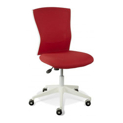 Jesper Office Furniture - Sanne Red Armless Office Chair - Features: